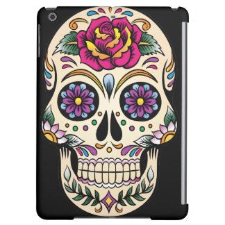 Day of the Dead Sugar Skull with Rose iPad Air Cover