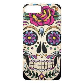 Day of the Dead Sugar Skull with Rose iPhone 7 Plus Case