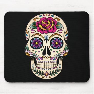 BlackBrookOffice Day of the Dead Sugar Skull with Rose Mouse Pad