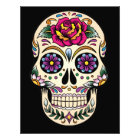 Day of the Dead Sugar Skull with Rose Photo Print
