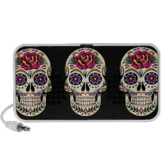 Day of the Dead Sugar Skull with Rose Portable Speaker