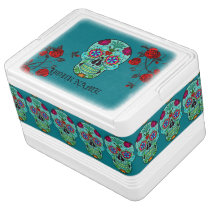 Day of the Dead Sugar Skull YOUR NAME Southwest Cooler
