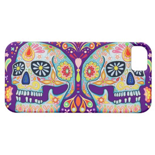 Day of the Dead Sugar Skulls Art iPhone 5 Case iPhone 5 Cases
