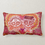 Day of the Dead Sugar Skulls Couple Pillow