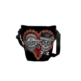 Day of the Dead Sugar Skulls Mini Messenger Bag