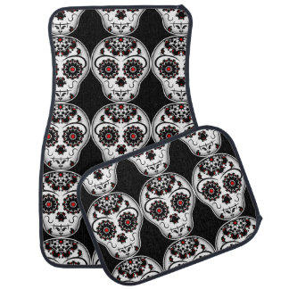 Day of the dead sugar skulls floor mat