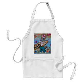 Day of the Dead Surfer Adult Apron