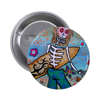 Day of the Dead Surfer Pin
