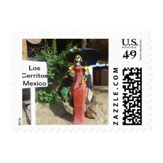 Day Of the Dead Surfer Katrina Stamp