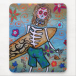 Day of the Dead Surfer Mouse Pad