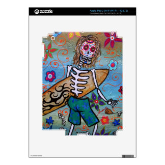 Day of the Dead Surfer Skin For iPad 3