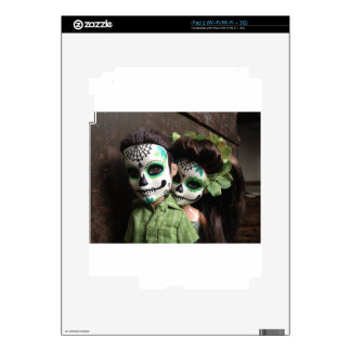 Day of the Dead Sweethearts Decal For iPad 2