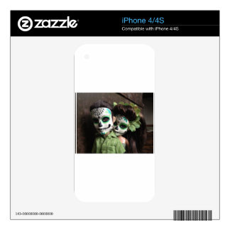Day of the Dead Sweethearts iPhone 4S Skin
