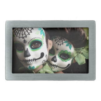 Day of the Dead Sweethearts Rectangular Belt Buckle