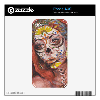 Day of the Dead Tarot Fortune Teller Decals For The iPhone 4