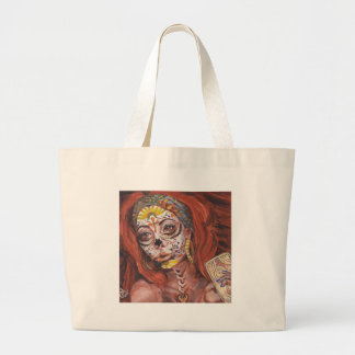 Day of the Dead Tarot Fortune Teller Large Tote Bag