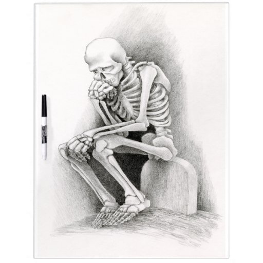 Day of the Dead Thinker Dry Erase Board