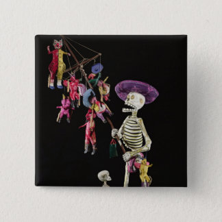 Day of the Dead: Toy Peddler, from Oaxaca Pinback Button