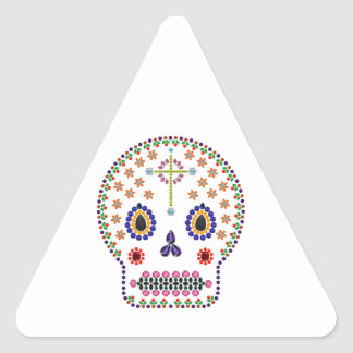 Day of the Dead Triangle Sticker