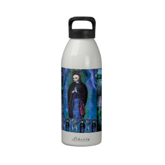 DAY OF THE DEAD VIRGEN GUADALUPE art Water Bottles
