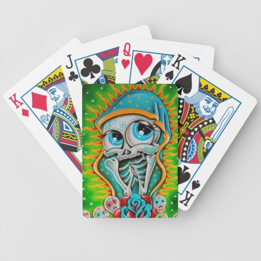 Day of the Dead Virgin Bicycle Playing Cards