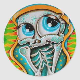 Day of the Dead Virgin Classic Round Sticker