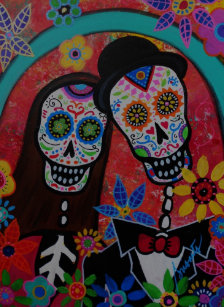 Day Of The Dead Wedding Poster