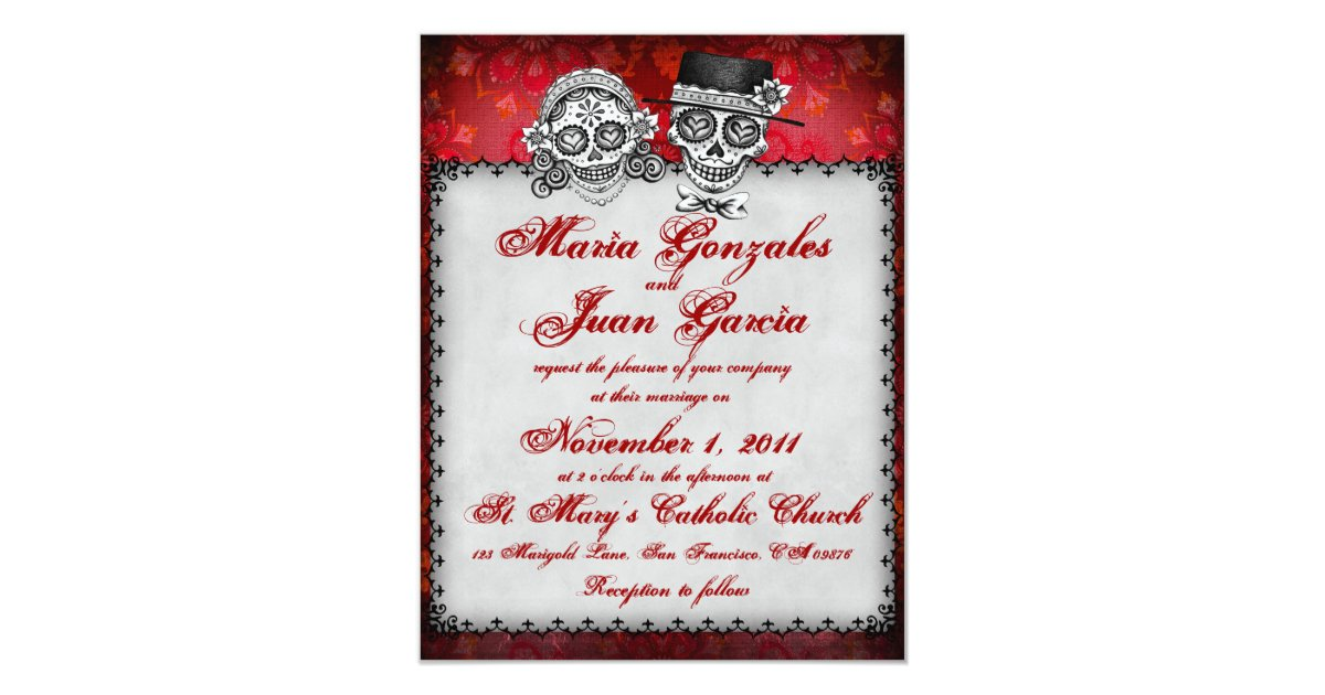 Day Of The Dead Wedding Gifts: Day Of The Dead Wedding Invitations
