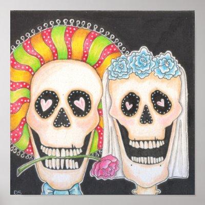 gothic wedding poster