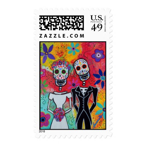 Day of the Dead Wedding Stamp Stamp