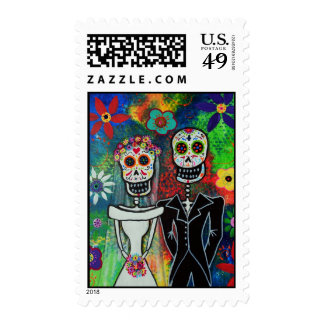 Day of the Dead Wedding Stamp Postage