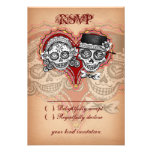 Day of the Dead Wedding Sugar Skull RSVP Cards Personalized Invites