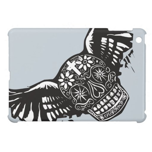 Day of the Dead Winged Skull iPad Mini Covers