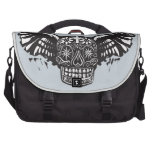 Day of the Dead Winged Skull Laptop Computer Bag