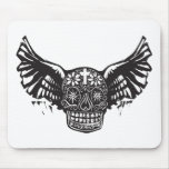 Day of the Dead Winged Skull Mouse Pads