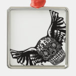 Day of the Dead Winged Skull Christmas Tree Ornaments