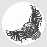 Day of the Dead Winged Skull Stickers