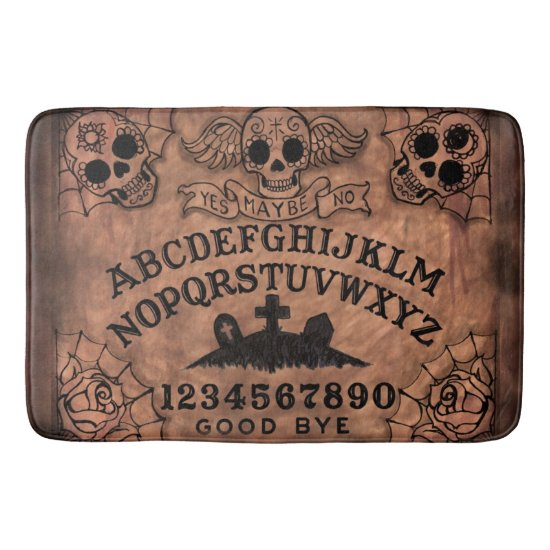 Day of the Dead witch board bath mat