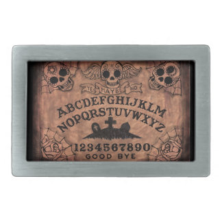 Day of the Dead witch board belt buckle