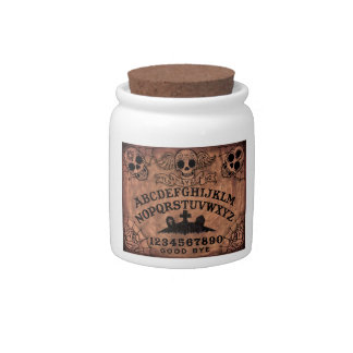 Day of the Dead witch board candy jar