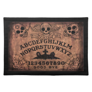 Day Of The Dead Witch Board Place Mat at Zazzle