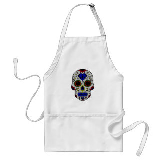 Day of the Dead with Blue Key Heart Apron