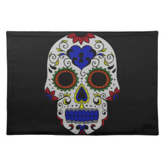 Day of the Dead with Blue Key Heart Placemats