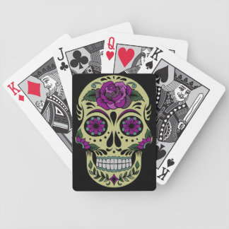 Day of the Dead with Purple Rose Deck Of Cards