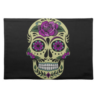 Day of the Dead with Purple Rose Place Mat