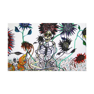 Day of the Dead with Sunflowers Canvas Print