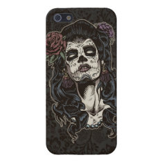 Day Of The Dead Woman Color Cover For Iphone Se/5/5s at Zazzle
