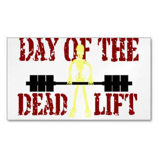 Day Of The DeadLift Magnetic Business Card