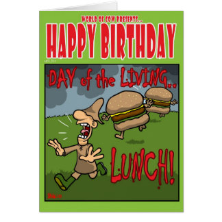 Day of the Living Lunch Card