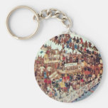 Day Of The Race By Walter Greaves Key Chain